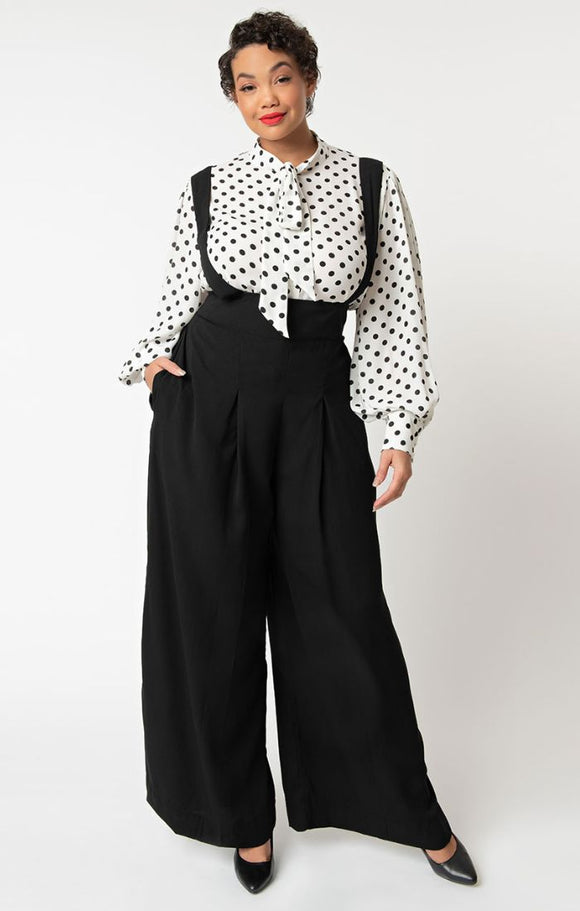 Classic Black High Waist Trousers