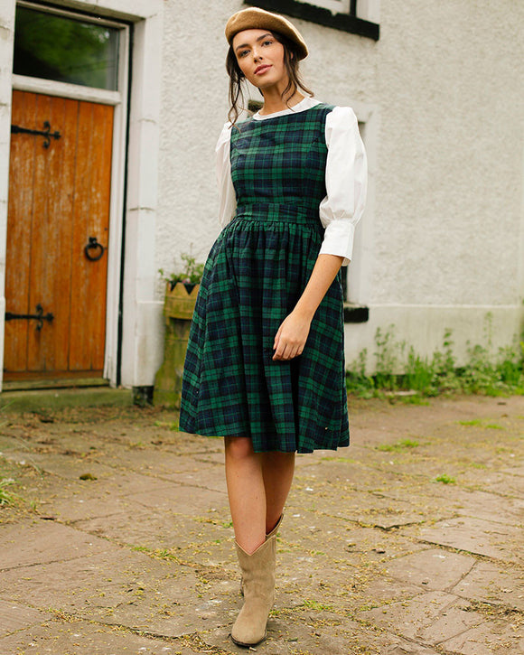 Green Tartan Tea Dress