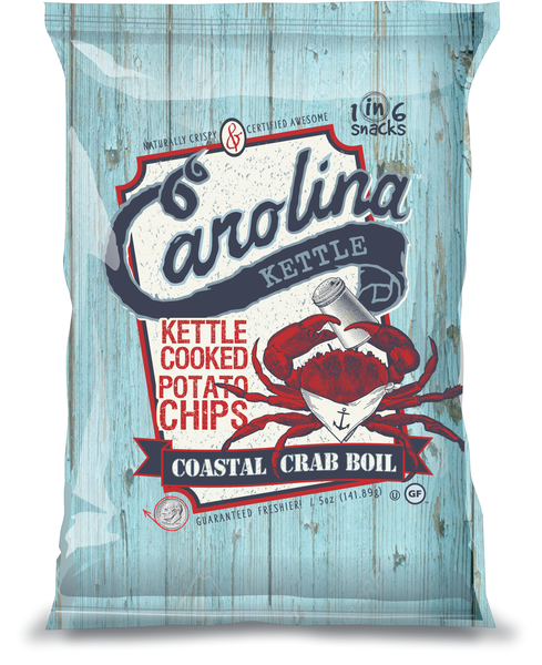 Case of 14-5 oz. Coastal Crab Boil Kettle Chips