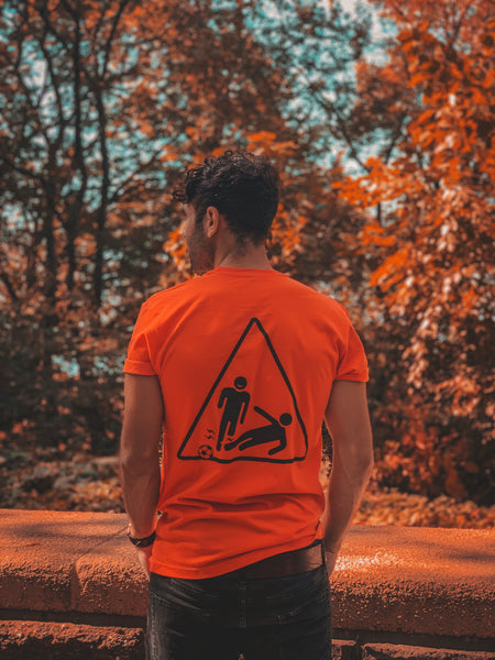 Black/Orange Tackle Tee