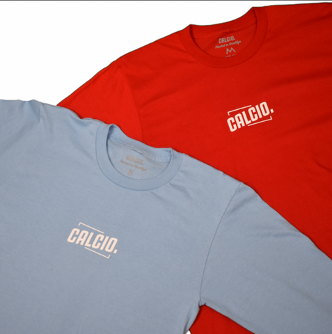 ALL YOU NEED IS CALCIO Long Sleeve (Red & Baby Blue)