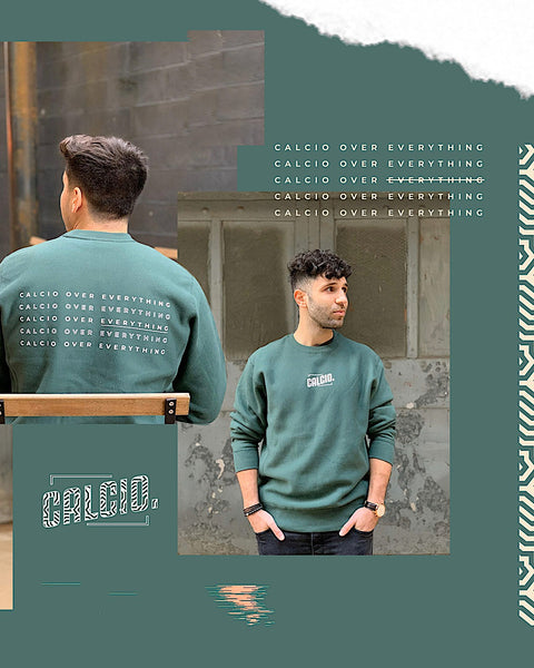 CALCIO OVER EVERYTHING Crewnecks
