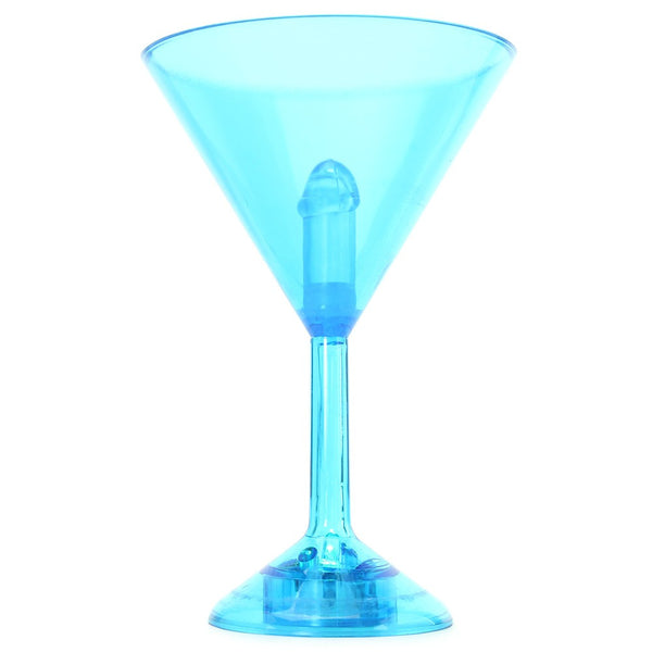 Martini Weenie Light-Up Party Glass in Blue