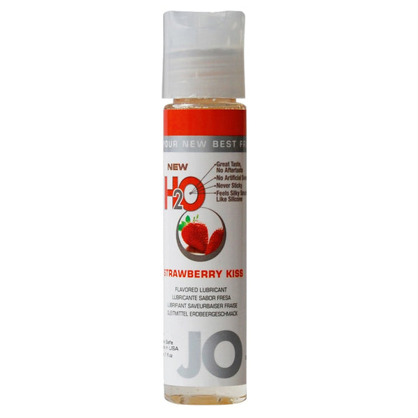 H2O Strawberry Kiss Flavored Lubricant in 1oz/30ml