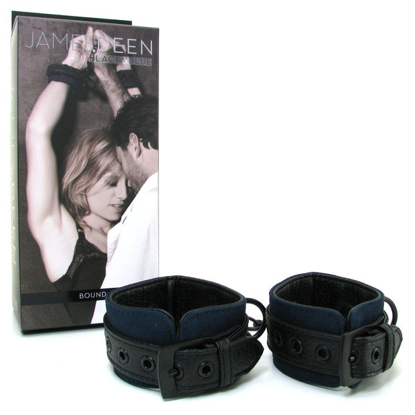 James Deen Black & Blue Bound Wrist Cuffs