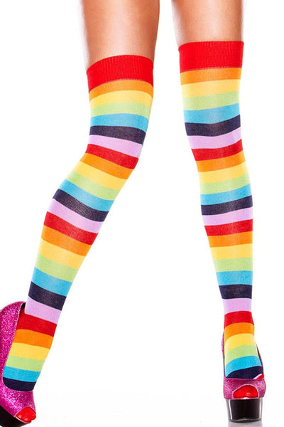Thigh High Rainbow Socks