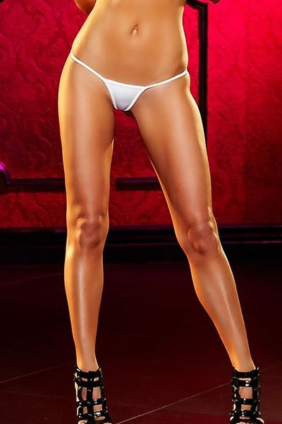 White Mini V-String Panty in OS