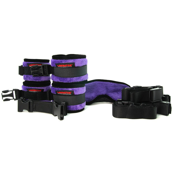 Black Label Plush Seduction Cuff Kit in Fluffy Purple