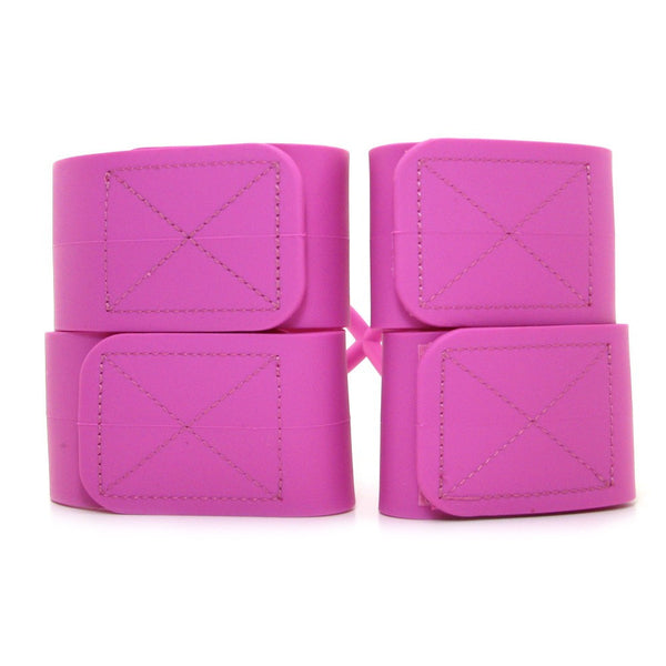 Silicone Submissions Hog Tie Cuffs in Pink