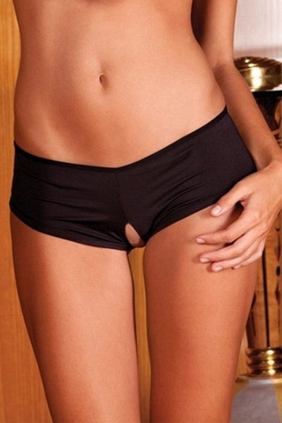 Crotchless Ribbon-Back Boyshort in M/L