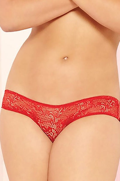 Red Entangled Panty in OSXL