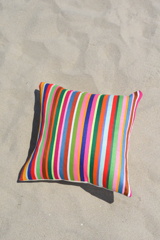 Rainbow Striped Modern Pillow Cover LGBTQ