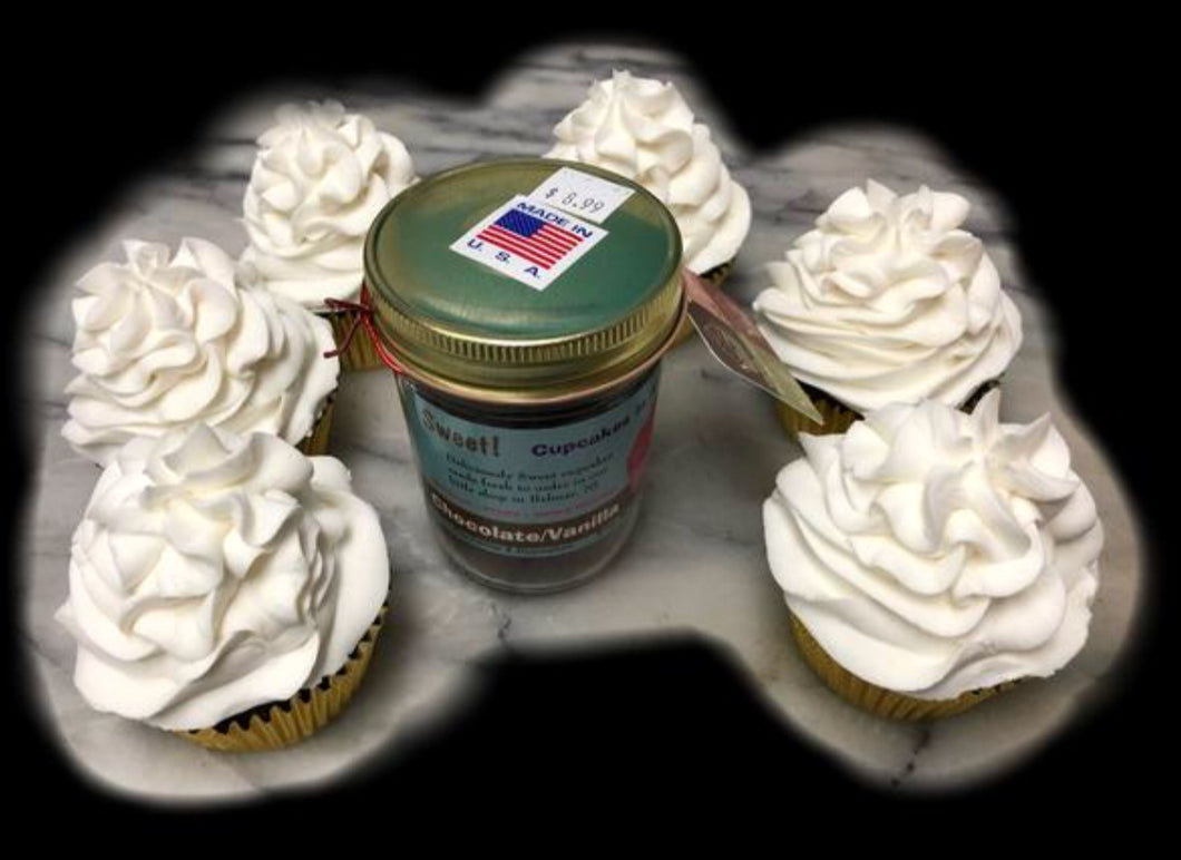 Cupcake Jars - Chocolate/Vanilla