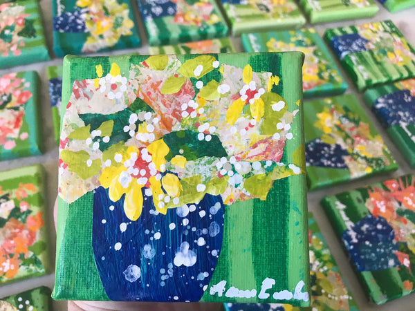 Miniature Original Floral Paintings