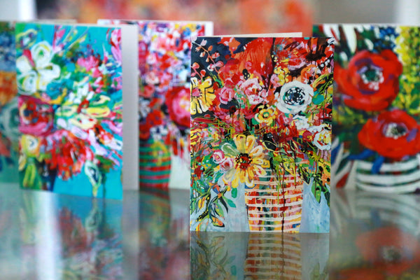 Big Ol' Batch of Ten Sets of Floral Greeting Cards (100 cards total)