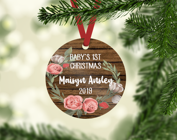 Baby's 1st Christmas Ornament - Personalized