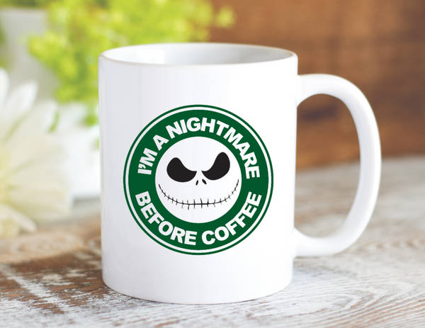 Nightmare Before Coffee Mug - Dishwasher Safe