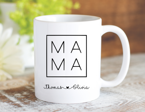Personalized MAMA Mug - Dishwasher Safe