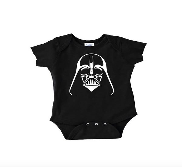 Black darth vader onesie with white or toddler t shirt