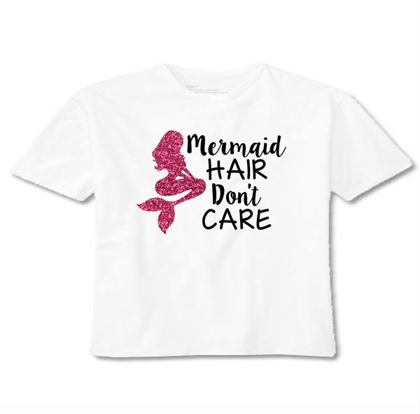 mermaid hair don't care toddler t shirt