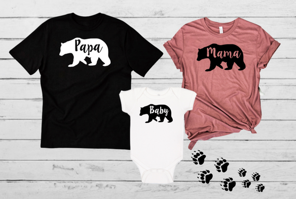 Mama Papa Baby Bear Family Set