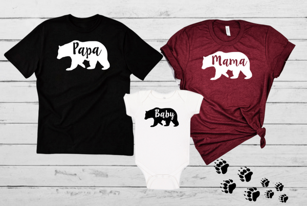 Copy of Mama Papa Baby Bear Family Set