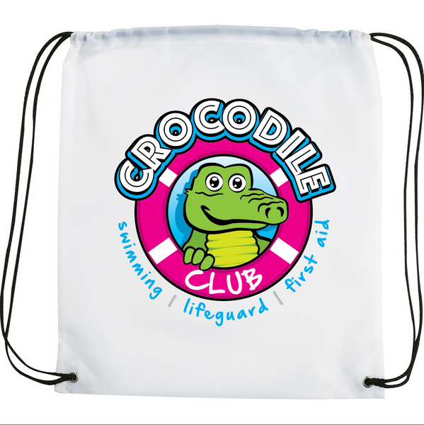 Crocodile Club Drawstring Bag