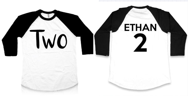 Two Birthday Raglan