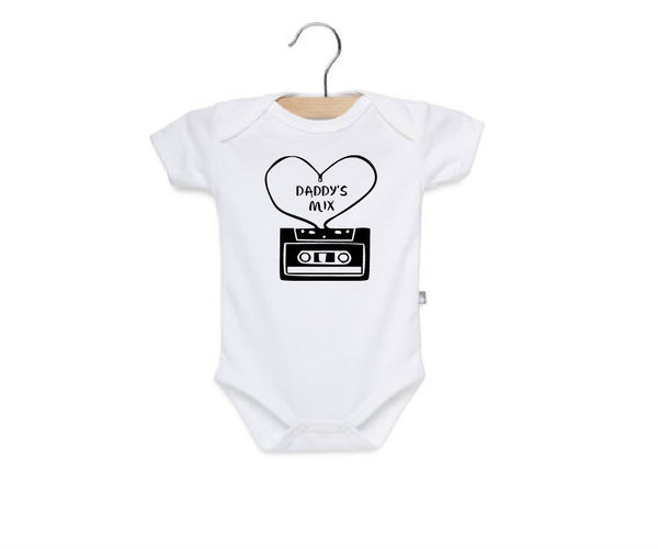 Hip hop baby clothes, mixed tape daddy's mix onesie or toddler t shirt