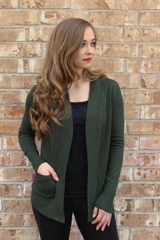 Forest Green Cardigan