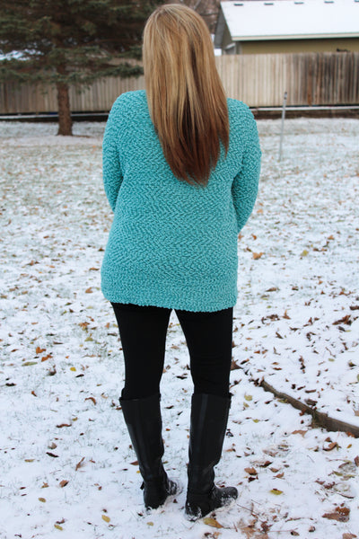 Icy Breeze Blue Sweater