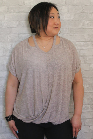 Dusty Pink Curvy Top