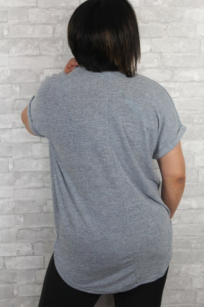 Extra soft misty blue top back.