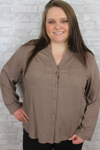 Cafe Mocha Curvy Top