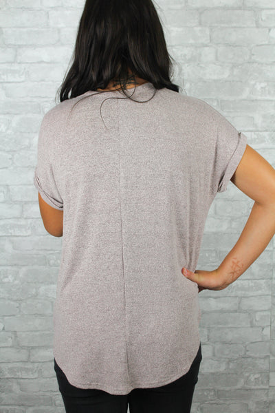 Extra soft dusty pink top back.