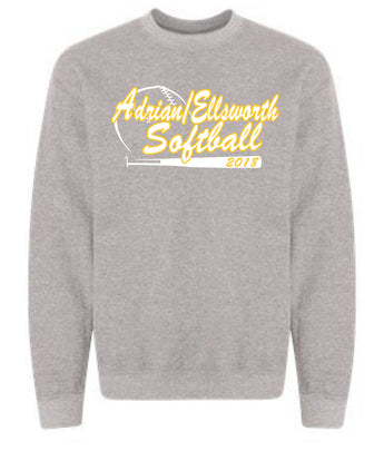 Adrian/Ellsworth Girls Softball Crew Neck Sweatshirt