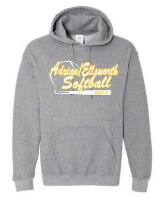 Adrian/Ellsworth Girls Softball FANS Hooded Sweatshirt
