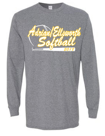 Adrian/Ellsworth Girls Softball Long Sleeve Shirt