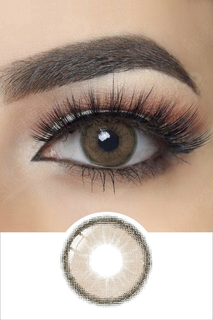 FRESHGO NUDE BROWN COSMETIC COLORED CONTACT LENSES FREE SHIPPING - EyeQ Boutique