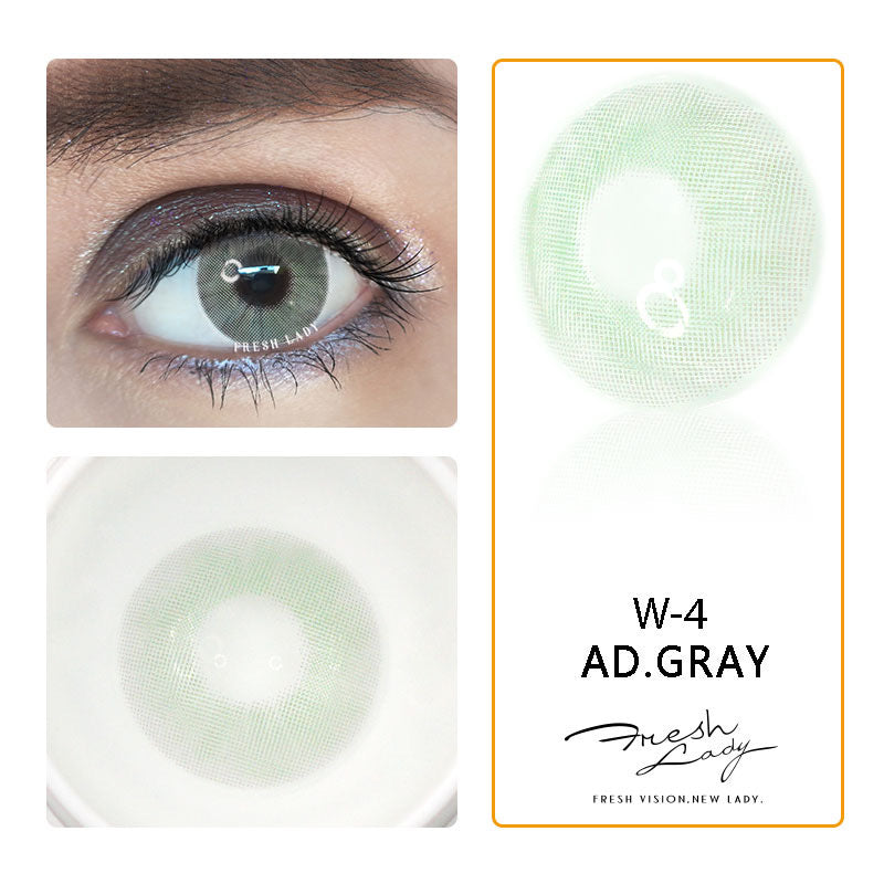 FRESHLADY AD GRAY (GREY) COLORED CONTACT LENSES COSMETIC FREE SHIPPING - EyeQ Boutique