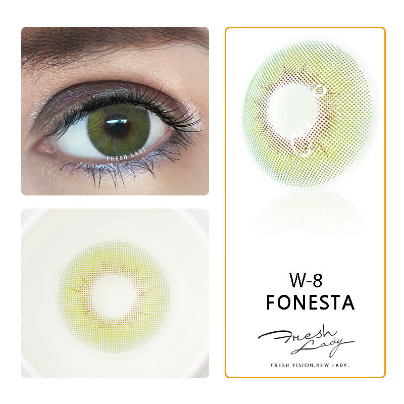 FRESHLADY FONESTA COLORED CONTACT LENSES COSMETIC FREE SHIPPING - EyeQ Boutique