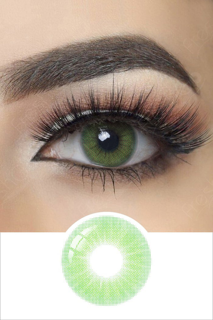 FRESHGO HIDROCOR EMERALD COSMETIC COLORED CONTACT LENSES FREE SHIPPING
