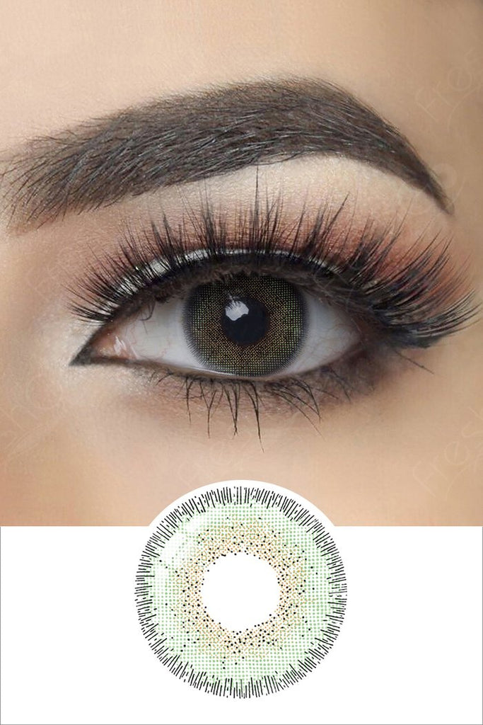 FRESHGO NATURAL ESMERALDA (GREEN) COSMETIC COLORED CONTACT LENSES FREE SHIPPING - EyeQ Boutique