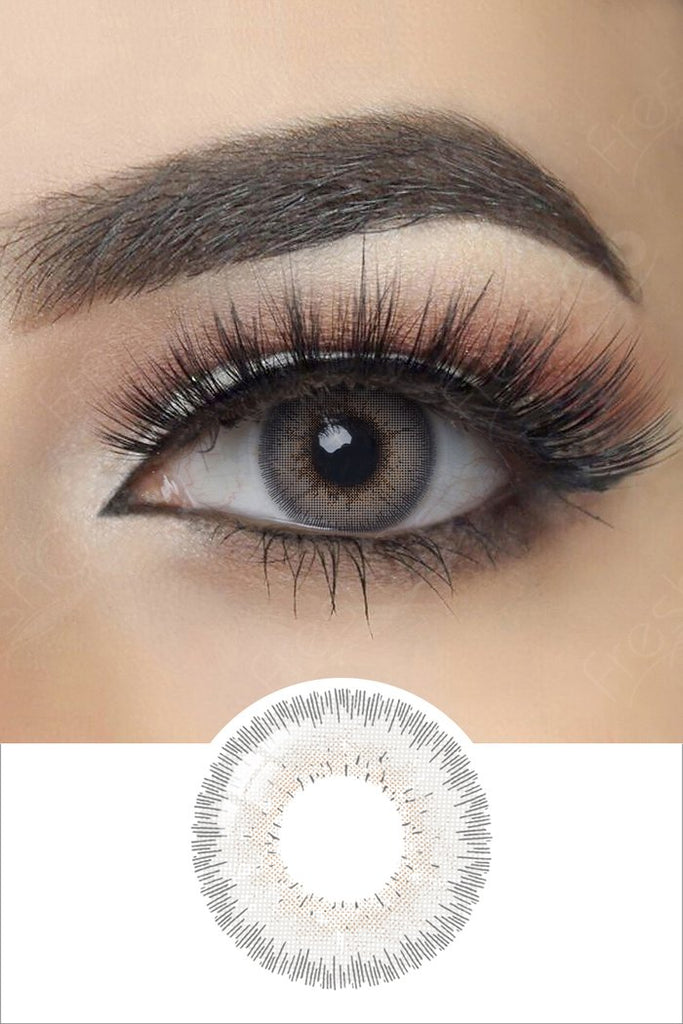 FRESHGO GRAY BEIGE COSMETIC COLORED CONTACT LENSES YEARLY 14.5MM FREE SHIPPING - EyeQ Boutique