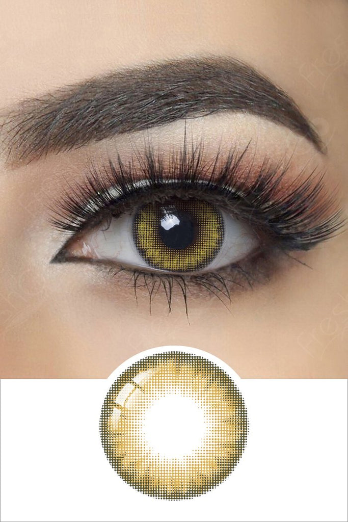 FRESHGO PRO KHAKI (HAZEL BROWN) COSMETIC COLORED CONTACT LENSES FREE SHIPPING - EyeQ Boutique