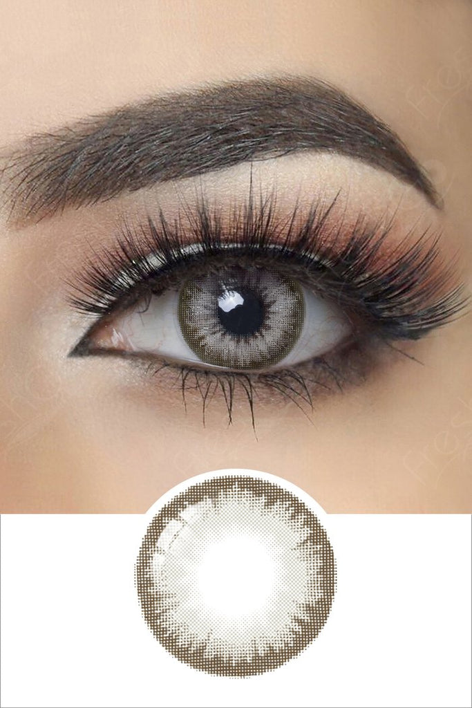 FRESHGO GLITTER GRAY (GREY) COSMETIC COLORED CONTACT LENSES FREE SHIPPING