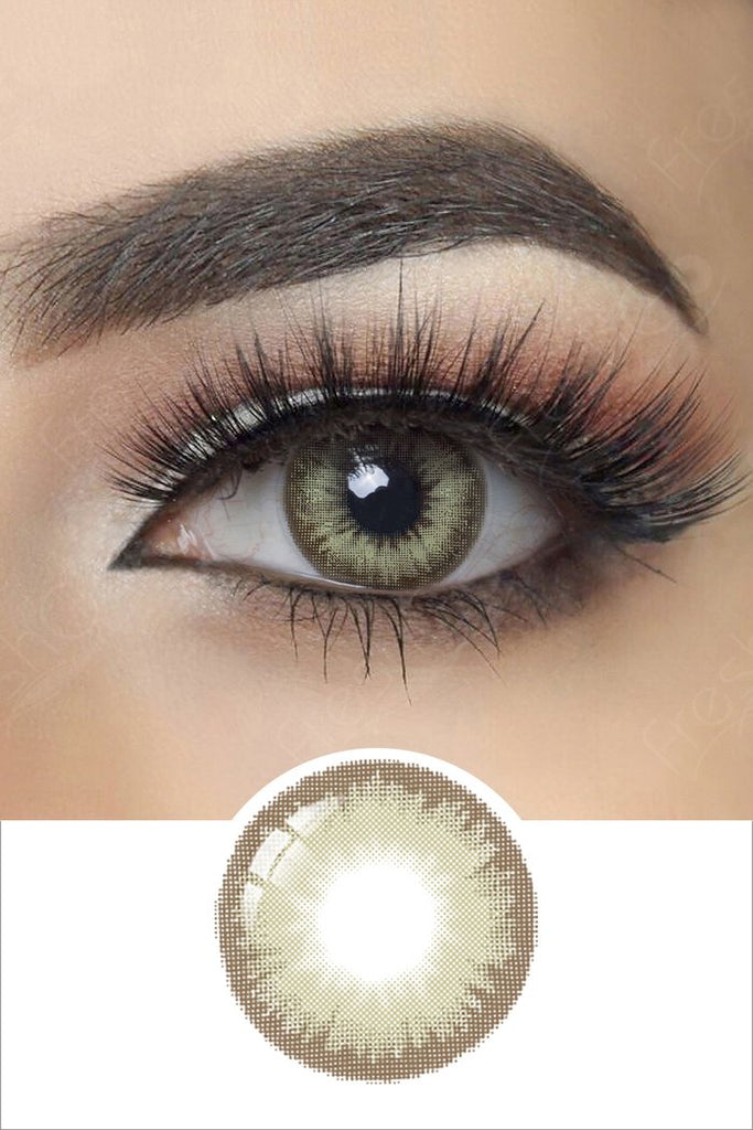 FRESHGO GRAY (GREY) GREEN COSMETIC COLORED CONTACT LENSES COSMETIC FREE SHIPPING - EyeQ Boutique