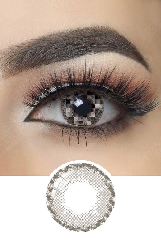 FRESHGO VIVID GRAY (GREY) COSMETIC COLORED CONTACT LENSES FREE SHIPPING - EyeQ Boutique