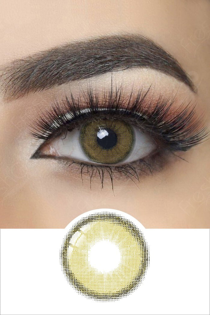 FRESHGO OLIVE GREEN COSMETIC COLORED CONTACT LENSES FREE SHIPPING - EyeQ Boutique
