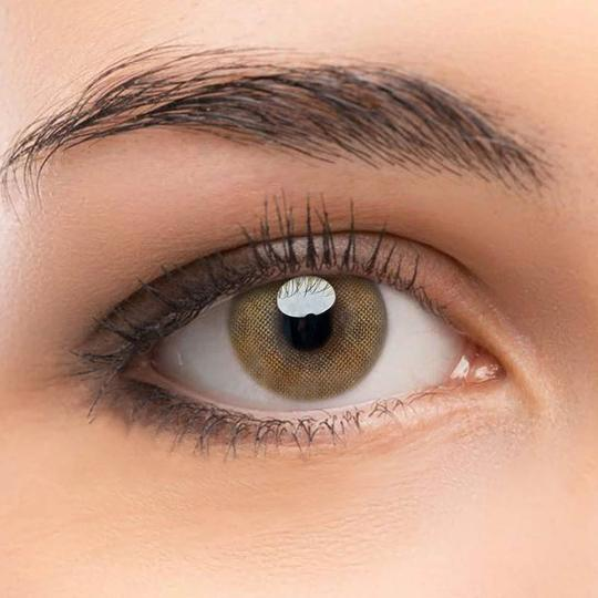 FRESHLADY QUEEN BROWN COLORED CONTACT LENSES COSMETIC FREE SHIPPING - EyeQ Boutique